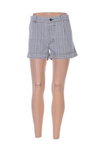 55 dsl shorts / bermudas femme de couleur bleu