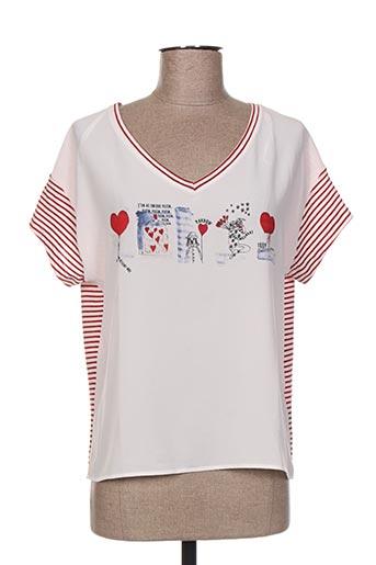 made in sens chemises femme de couleur rouge