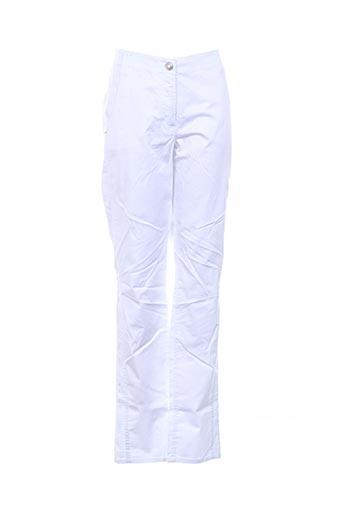 Pantalon casual blanc BETTY BARCLAY pour femme