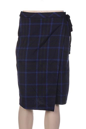 Jupe mi-longue bleu FRNCH pour femme