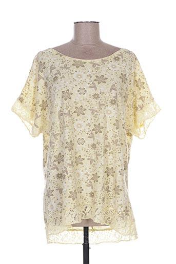 T-shirt manches courtes jaune ACTUELLE pour femme