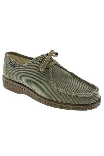 la vague chaussures homme de couleur vert