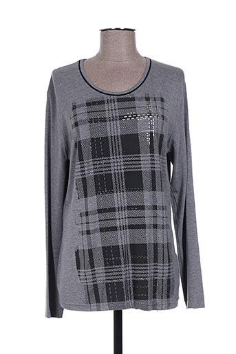 maille a. forcier t-shirts femme de couleur gris