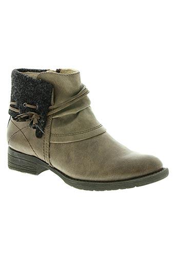 soft line chaussures femme de couleur marron