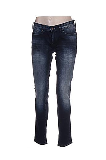Jeans coupe slim bleu DENHAM pour femme