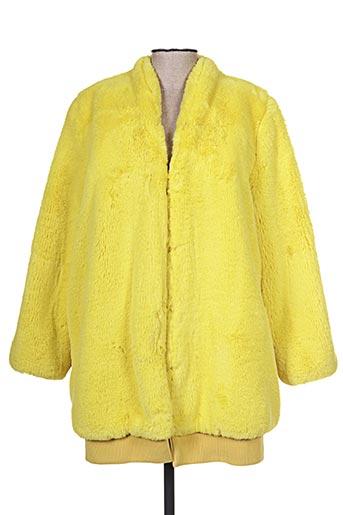 Manteau long jaune OOFWEAR pour femme