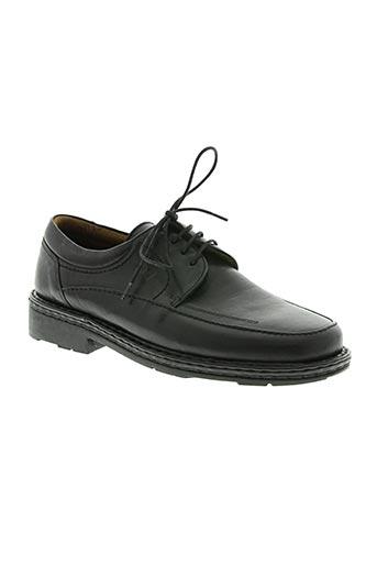 fluchos chaussures homme de couleur noir