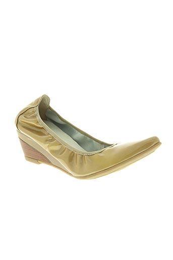 violet chaussures femme de couleur beige