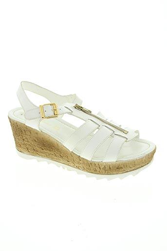 bella storia chaussures femme de couleur blanc
