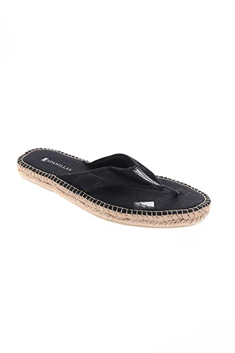 espanillas chaussures homme de couleur noir