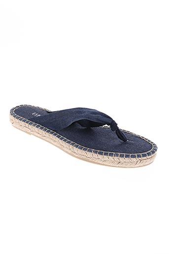 espanillas chaussures femme de couleur bleu