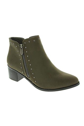 les p'tites bombes chaussures femme de couleur vert