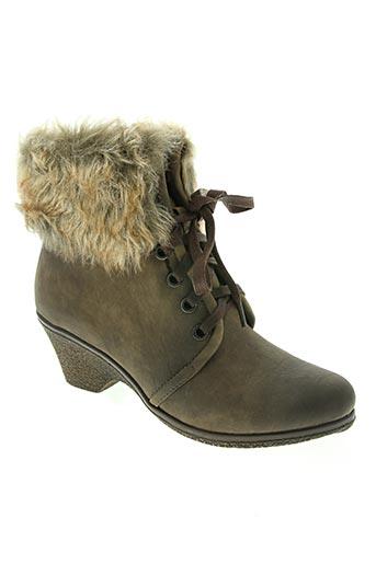 dulce rubio chaussures femme de couleur marron