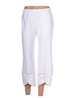 Pantalon 7/8 blanc E-BRYDE pour femme