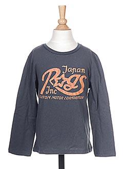 T-shirt manches longues gris JAPAN RAGS pour garçon