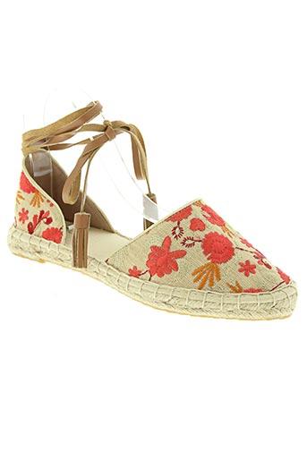 cb fusion chaussures femme de couleur rouge