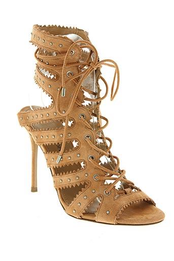 pura lopez chaussures femme de couleur beige