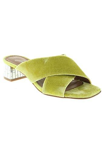 lola cruz chaussures femme de couleur jaune