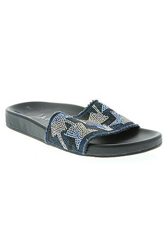 lola cruz chaussures femme de couleur bleu