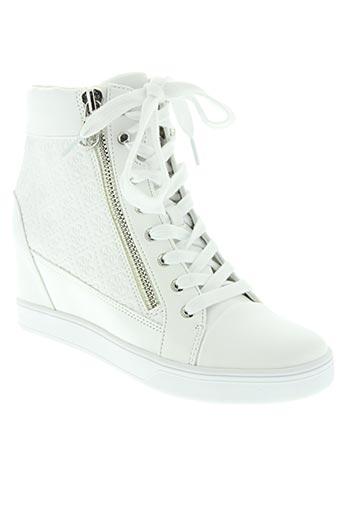 guess chaussures femme de couleur blanc