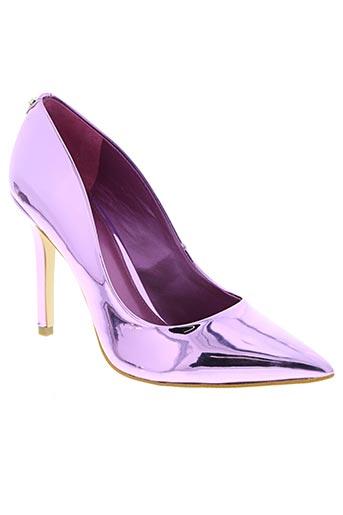 guess chaussures femme de couleur violet