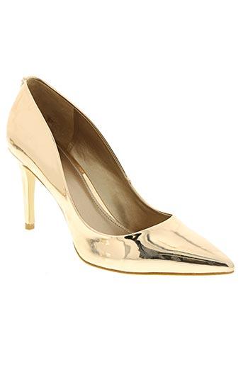 guess chaussures femme de couleur jaune