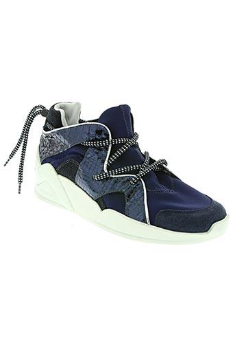 serafini chaussures femme de couleur bleu