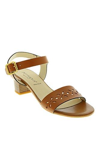 pettegola chaussures femme de couleur marron