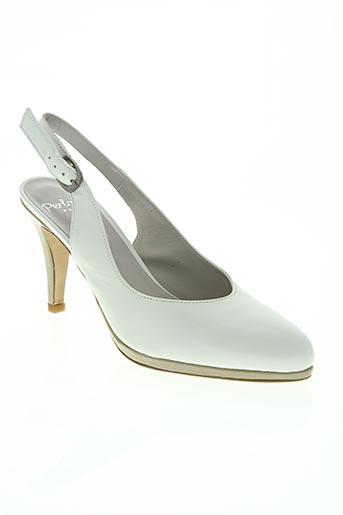 perlato chaussures femme de couleur blanc