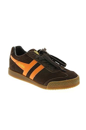 gola chaussures garçon de couleur marron