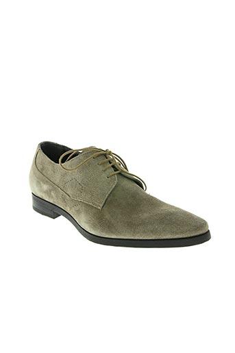hexagone chaussures homme de couleur beige