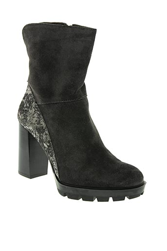 perlato chaussures femme de couleur gris