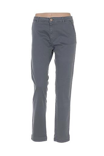 bô-m pantalons femme de couleur gris