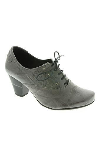 alpina chaussures femme de couleur gris