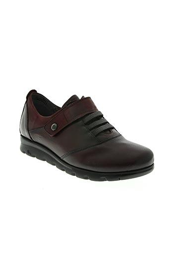 fluchos chaussures femme de couleur rouge