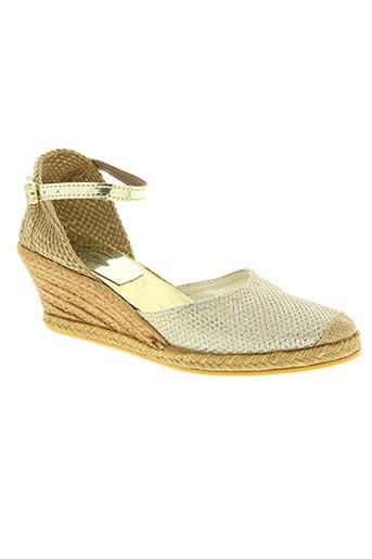 la vague chaussures femme de couleur beige
