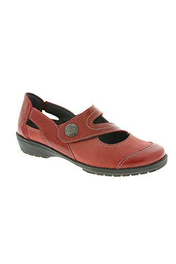 swedi chaussures femme de couleur rouge
