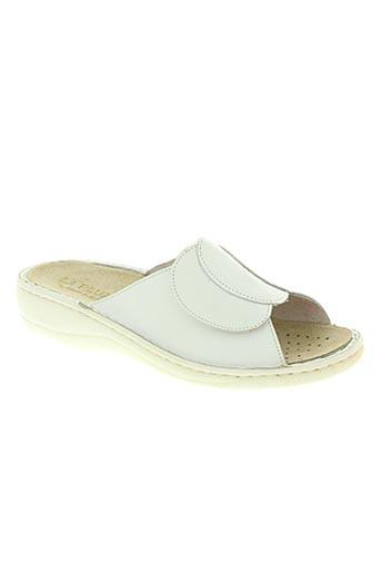 la plume chaussures femme de couleur blanc
