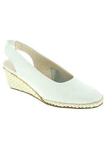 heller chaussures femme de couleur blanc