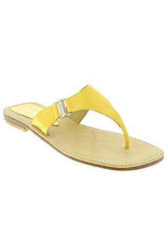 strade varie chaussures femme de couleur jaune
