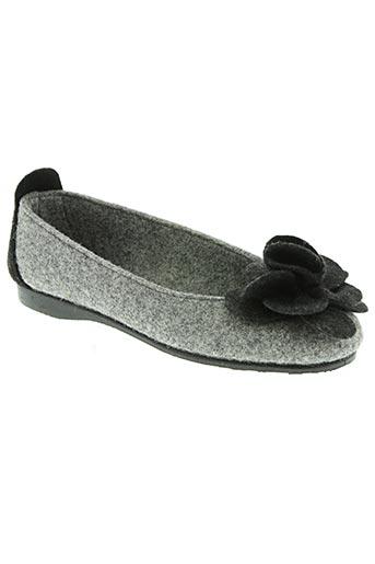 Chaussons/Pantoufles gris SMS pour femme
