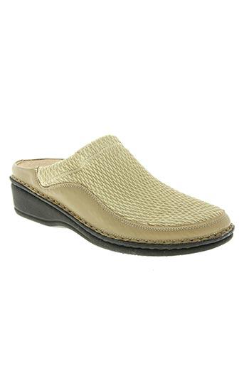 la plume chaussures femme de couleur beige