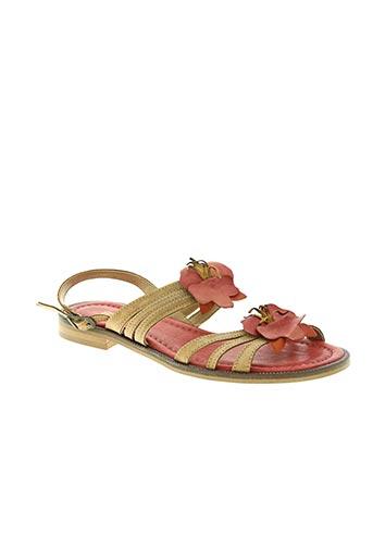 samoa chaussures femme de couleur marron