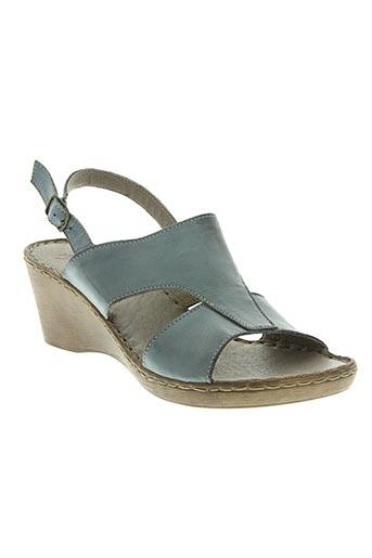 ayoka chaussures femme de couleur bleu