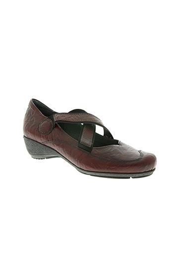 flexell chaussures femme de couleur rouge