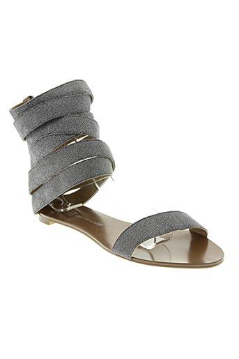 Sandales/Nu pieds gris CHOCOLATE SCHUBAR pour femme