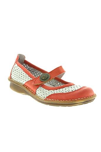 bran's chaussures femme de couleur orange