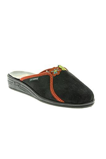 la vague chaussures femme de couleur noir