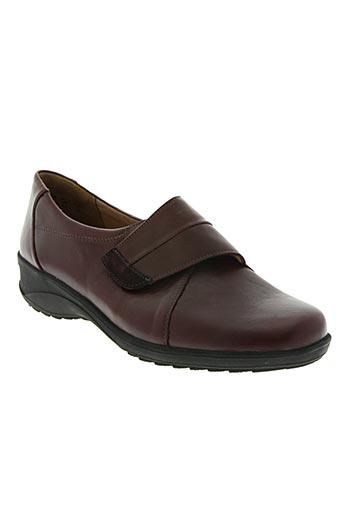 solidus chaussures femme de couleur rouge
