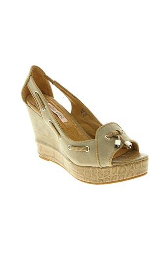 pilar abril chaussures femme de couleur beige